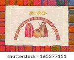 christmas nativity scene  jesus ...   Shutterstock . vector #165277151