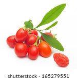 Goji Berry Isolated On White...