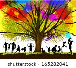 childhood. colorful tree. vector