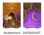 set of trendy ramadan kareem... | Shutterstock .eps vector #1652831437