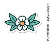 sticker of tattoo in... | Shutterstock . vector #1652835094