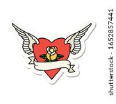 sticker of tattoo in... | Shutterstock . vector #1652857441