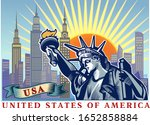 statue of liberty. new york and ...   Shutterstock . vector #1652858884