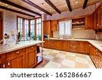 Stock photo kitchen in luxury home 165286667