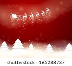 vector illustration of santa... | Shutterstock .eps vector #165288737