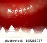 vector illustration of santa... | Shutterstock .eps vector #165288737