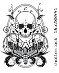 illustration of the skull and... | Shutterstock . vector #165288995