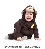 Baby Boy Dressed In Monkey...