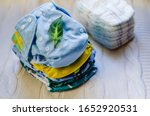 Stack Of Reusable Nappies....