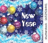 new year  christmas ... | Shutterstock .eps vector #1652926441