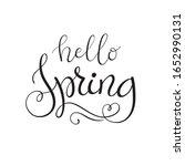 vector hello spring lettering... | Shutterstock .eps vector #1652990131