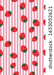 strawberry patterns  red...   Shutterstock .eps vector #1653052621