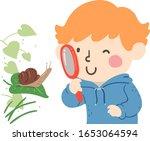 Illustration Of A Kid Boy Using ...