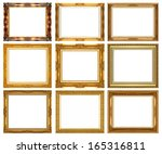 picture frame isolated on white ... | Shutterstock . vector #165316811