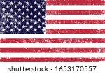 grunge old american flag.vector ... | Shutterstock .eps vector #1653170557