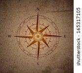 retro navigation compass symbol ... | Shutterstock .eps vector #165317105