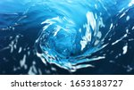 Small photo of Water twister, freeze motion of rotating water surface. Refreshment and drink.