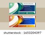 collection gradient blue  green ... | Shutterstock .eps vector #1653204397