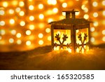 christmas lantern with... | Shutterstock . vector #165320585