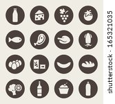 food icon set | Shutterstock .eps vector #165321035