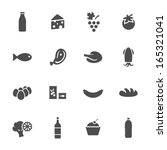 food icon set | Shutterstock .eps vector #165321041