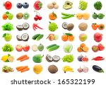 collection of various fruits... | Shutterstock . vector #165322199