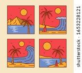 logo badge beach design... | Shutterstock .eps vector #1653228121