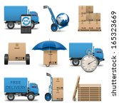 vector delivery icons set 4 | Shutterstock .eps vector #165323669