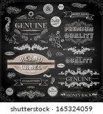 vector set of calligraphic... | Shutterstock .eps vector #165324059