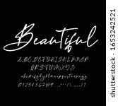 best alphabet beautiful...   Shutterstock .eps vector #1653242521