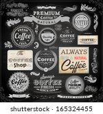 old style coffee frames and...   Shutterstock .eps vector #165324455