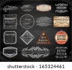 vector set of calligraphic... | Shutterstock .eps vector #165324461