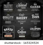 set of vintage chalkboard... | Shutterstock .eps vector #165324524