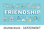 friendship word concepts banner....
