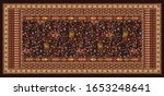 Beautiful Kashmiri stole Dupatta with traditional motif and background texture for textile digital print designing