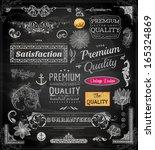 vector set of calligraphic... | Shutterstock .eps vector #165324869