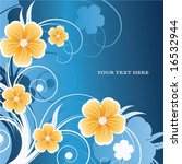 abstract floral background with ... | Shutterstock .eps vector #16532944