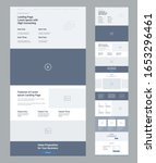 landing page wireframe design...