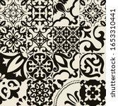 set of 16 tiles azulejos in...   Shutterstock .eps vector #1653310441