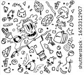 doodle on a white background... | Shutterstock .eps vector #1653312907