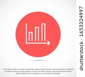 graph icon vector in trendy...