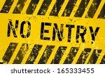 No Entry Sign  Vector...