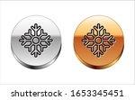 black line snowflake icon... | Shutterstock .eps vector #1653345451