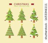 creative green christmas tree... | Shutterstock .eps vector #1653346111