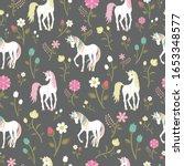 pattern with beautiful unicorns ...   Shutterstock .eps vector #1653348577