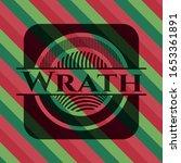 wrath christmas emblem. vector... | Shutterstock .eps vector #1653361891