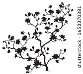 black wood silhouette with... | Shutterstock .eps vector #1653370381