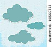 set of cloud shaped cartoon... | Shutterstock .eps vector #165337535