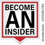 become an insider badge tag on... | Shutterstock .eps vector #1653381781