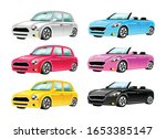 Cars Flat Color Vector Objects...